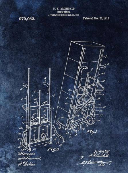 Wall Art - Drawing - Old Hand Truck Patent by Dan Sproul