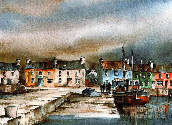 Painting - Old Harbour Dingle, Kerry by Val Byrne