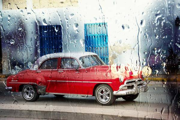 Photograph - Old Havana Rainy Red by Alice Gipson