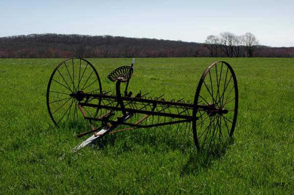 Hay Rake Photograph - Old Hay Rake by David Gordon