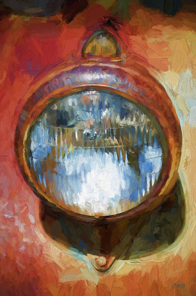 Photograph - Old Headlamp II - Painterly by David Gordon