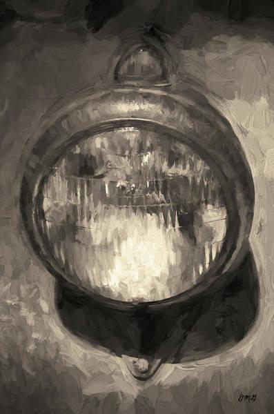 Photograph - Old Headlamp II Toned by David Gordon