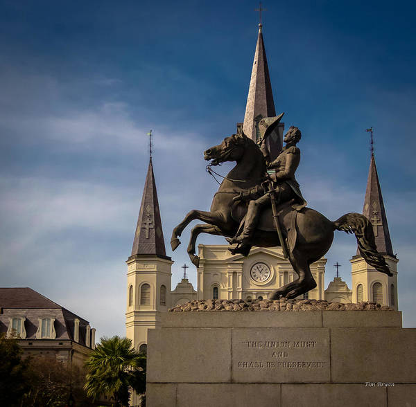 Photograph - Old Hickory Jackson Square New Orleans by Tim Bryan