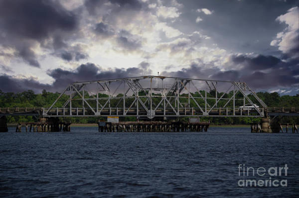 Photograph - Old Highway 41 Swing Bridge Over The Wando River In Charleston Sc by Dale Powell