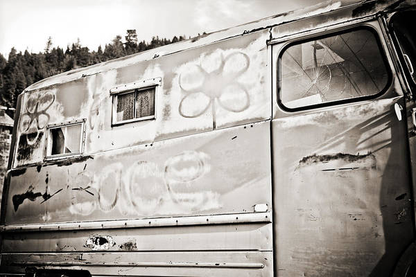 Photograph - Old Hippie Peace Van by Marilyn Hunt