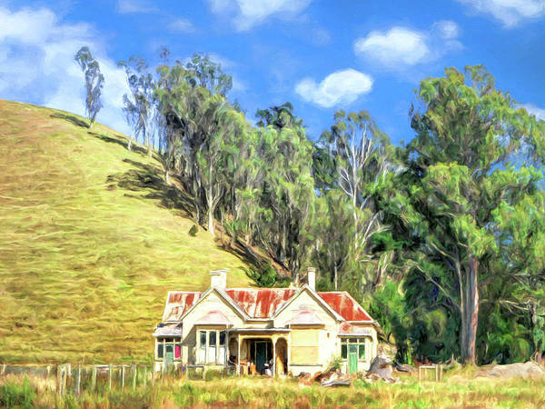 Painting - Old Homestead And Eucalyptus Grove by Dominic Piperata