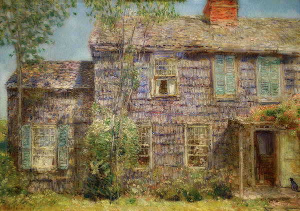 Wall Art - Painting - Old House, Easthampton, Long Island by Childe Hassam