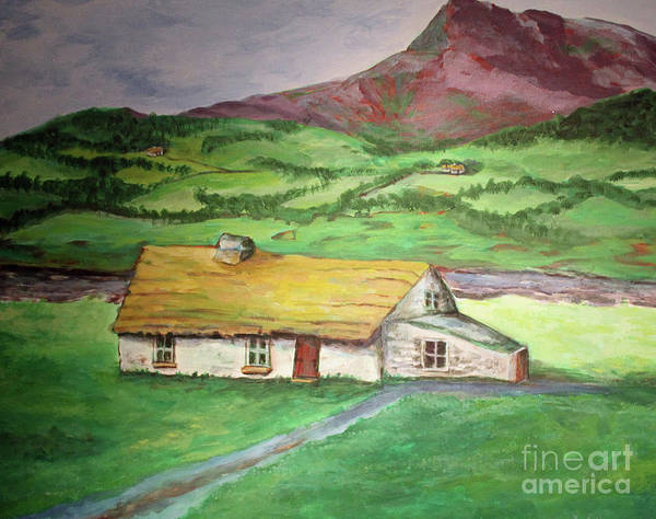 Donegal Painting - Old House In Donegal, Ireland by Ed Ulmer