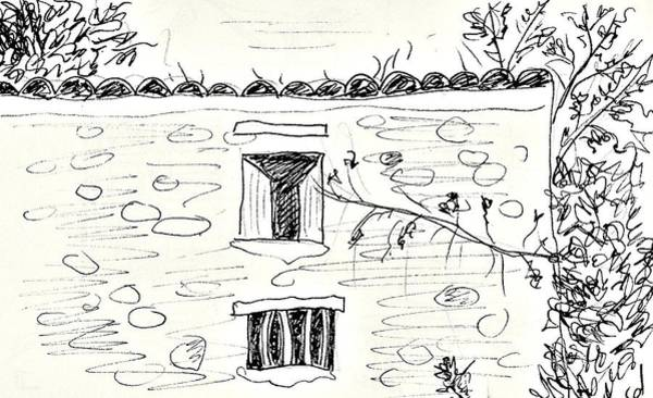 Balneario Wall Art - Drawing - Old House In Lanjaron by Chani Demuijlder