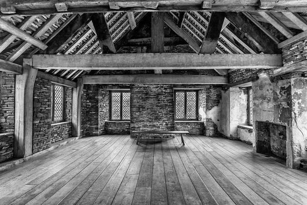 Park Bench Digital Art - Old House Interior Black And White by Tsafreer Bernstein