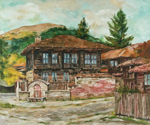 Painting - Old House by Maria Arnaudova