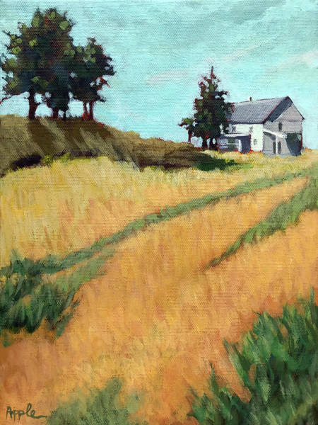 Wall Art - Painting - Old House On The Hill by Linda Apple