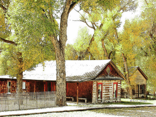 Mixed Media - Old Houses In Bannack by Kae Cheatham