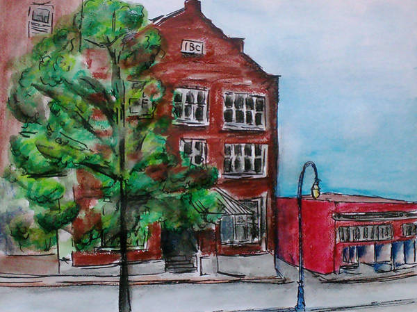 Wa Drawing - Old Ibc Building In Downtown Port Angeles by Aarron  Laidig