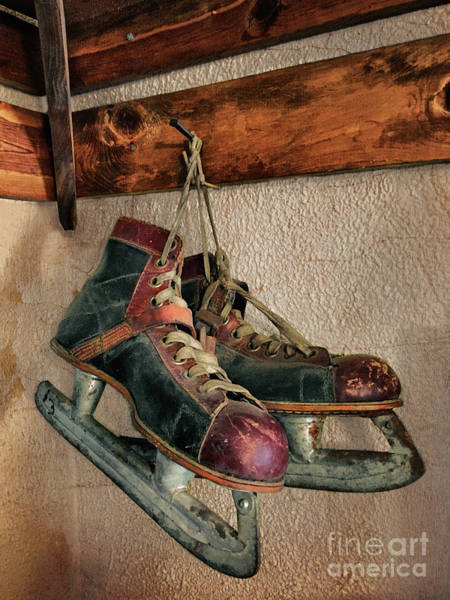 Photograph - Old Ice Skates by Mark Miller