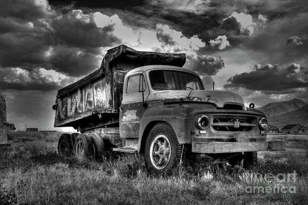 Photograph - Old International #2 - Bw by Tony Baca