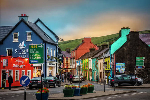 Photograph - Old Irish Town The Dingle Peninsula  by Debra and Dave Vanderlaan