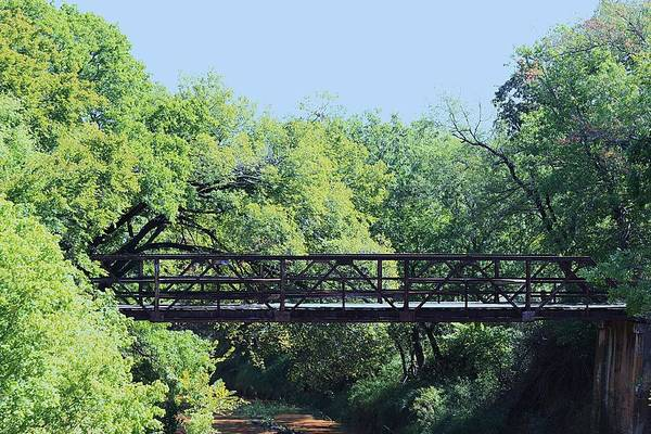 Photograph - Old Iron Bridge Over Caddo Creek by Sheila Brown