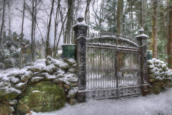 Photograph - Old Iron Gate In Winter by Joann Vitali