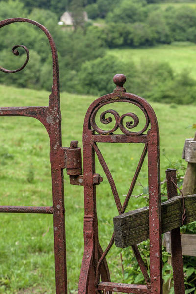 Hinges Photograph - Old Iron Gate by W Chris Fooshee