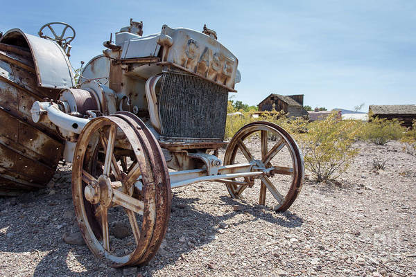 Photograph - Old Iron Tractor In The Nevada Desert by Edward Fielding
