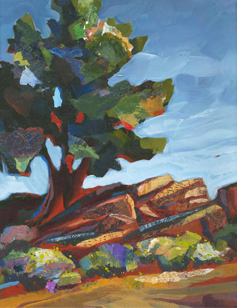 Painting - Old Juniper by Shelli Walters