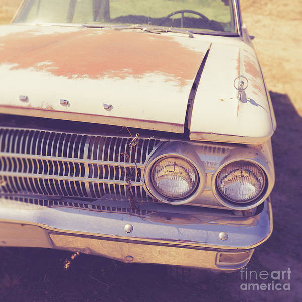 Wall Art - Photograph - Old Junker Car Square by Edward Fielding