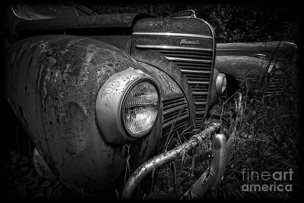 Photograph - Old Junkers Black And White by Edward Fielding