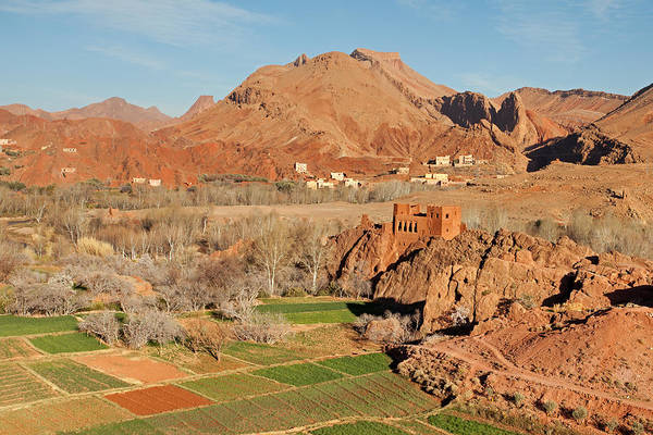 Photograph - Old Kasbah Remainings And Fields by Aivar Mikko
