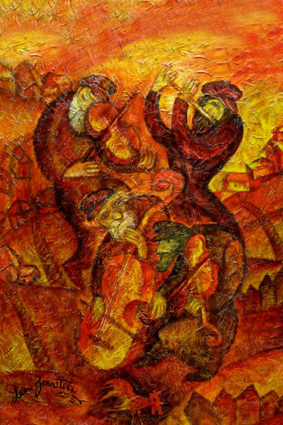 Wall Art - Painting - Old Klezmer Music by Leon Zernitsky