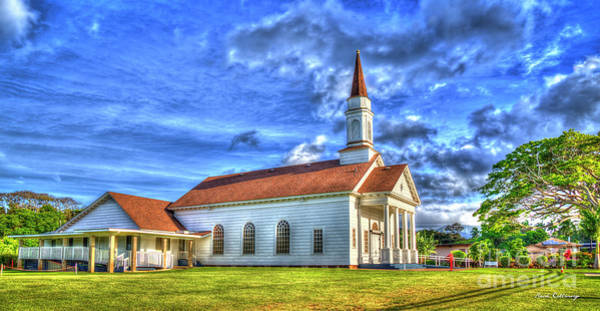 Ohia Photograph - Old Koloa Church Sunrise Koloa Kauai Hawaii Art by Reid Callaway
