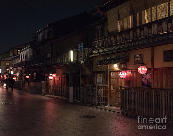Art Print featuring the photograph Old Kyoto Lanterns, Gion Japan by Perry Rodriguez