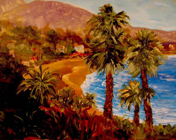 Laguna Beach Painting - Old Laguna by Sarah  Cassidy