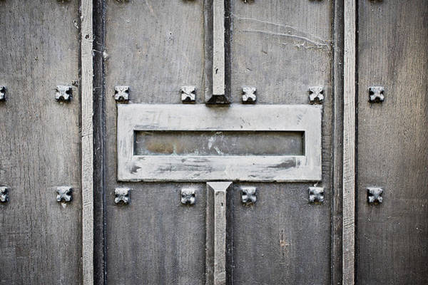 Mail Slot Photograph - Old Letterbox by Tom Gowanlock