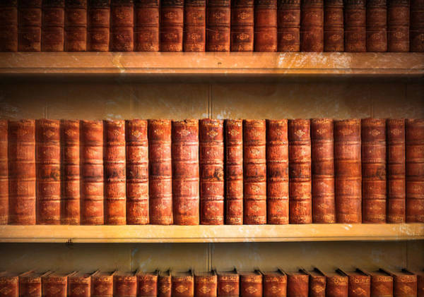 Old Wall Art - Photograph - Old Library by Tom Gowanlock
