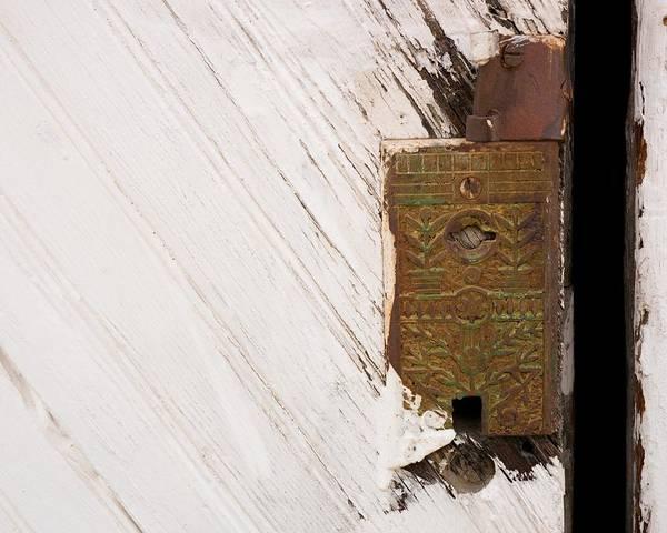 Photograph - Old Lock On Garage Door by Dutch Bieber