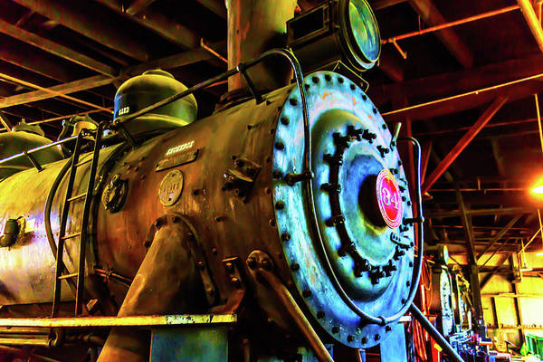 Roundhouse Photograph - Old Locomotive No 34 by Garry Gay