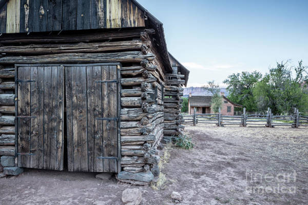 Wall Art - Photograph - Old Log Barn Grafton Ghost Town by Edward Fielding