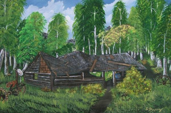 Painting - Old Log Cabin And   Memories by Sharon Duguay