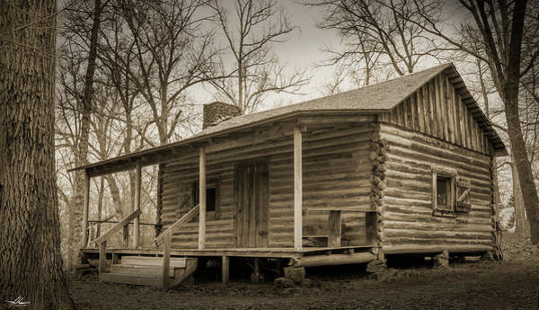 Photograph - Old Log Cabin by Philip Rispin