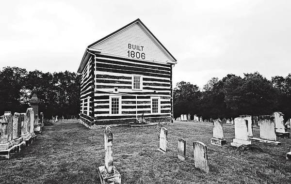 Photograph - Old Log Church by Trina  Ansel