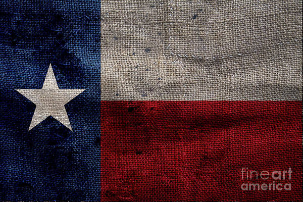 Dallas Cowboys Photograph - Old Lone Star Flag by Jon Neidert