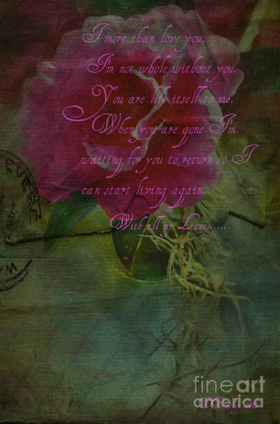 Photograph - Old Love Letters8 by Donna Bentley