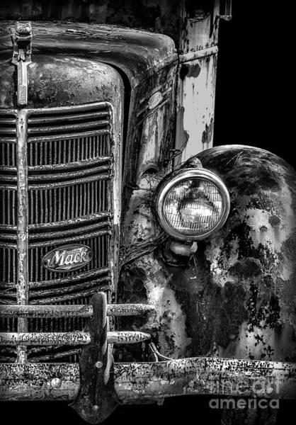 Mack Photograph - Old Mack Truck Front End by Walt Foegelle