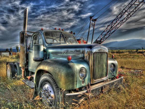 Wall Art - Photograph - Old Mack Truck by Peter Schumacher