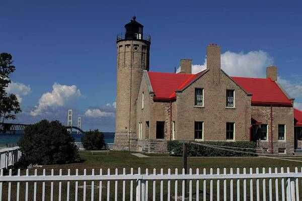 Historical Marker Photograph - Old Mackinac Point Light Shouse by G Berry