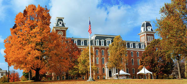 Photograph - Old Main During Autumn At University Of Arkansas Panorama by Gregory Ballos