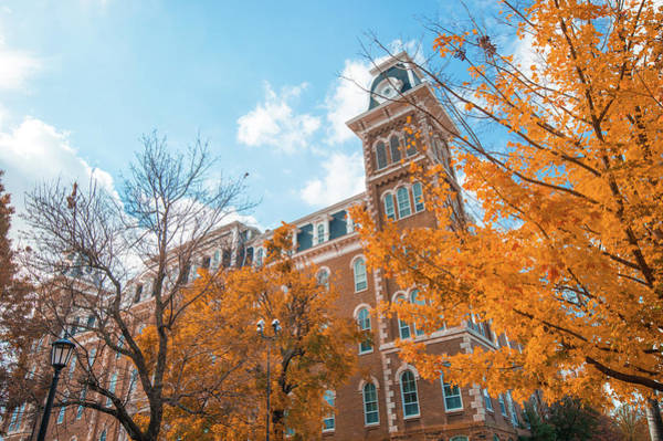 Old Main Wall Art - Photograph - Old Main During Autumn - University Of Arkansas - Fayetteville by Gregory Ballos