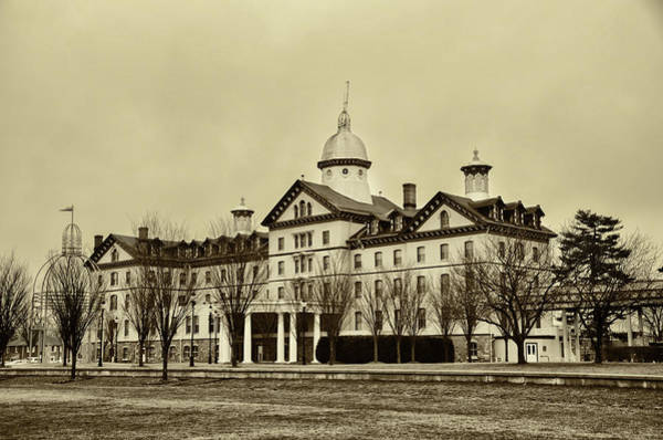 Photograph - Old Main In Sepia - Widener University by Bill Cannon
