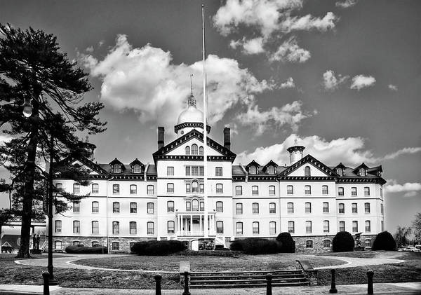 Photograph - Old Main - Widener University - Chester Pa In Black And White by Bill Cannon